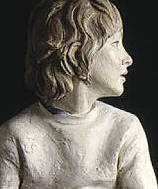 terracotta portrait of Michela